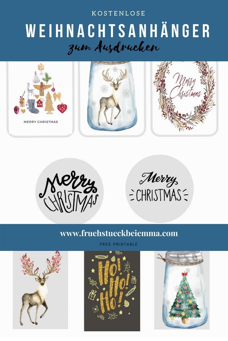 Printable: Weihnachtsanhänger zum Ausdrucken | Frühstück bei Emma