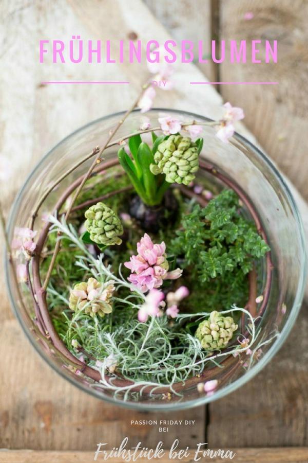Der heutige Beitrag zum Passion Friday DIY bei Frühstück bei Emma - ein Frühlingsblumen DIY