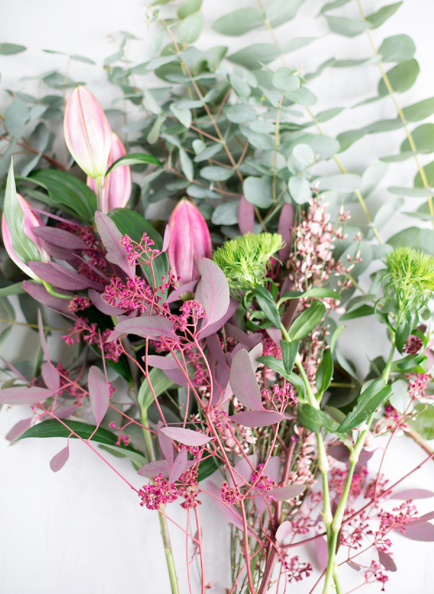Lose Blumen aus dem Blumenladen - selbstzusammengestellt Blumensträuße