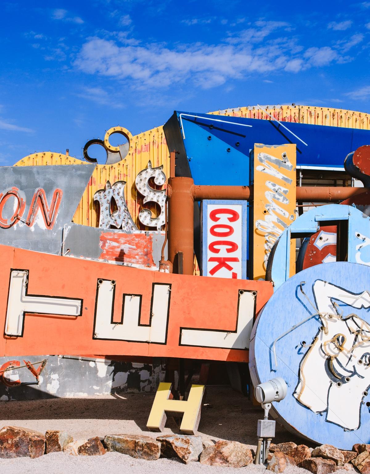 Neonschilder Museum in Las Vegas Frühstück bei Emma unterwegs in Las Vegas USA