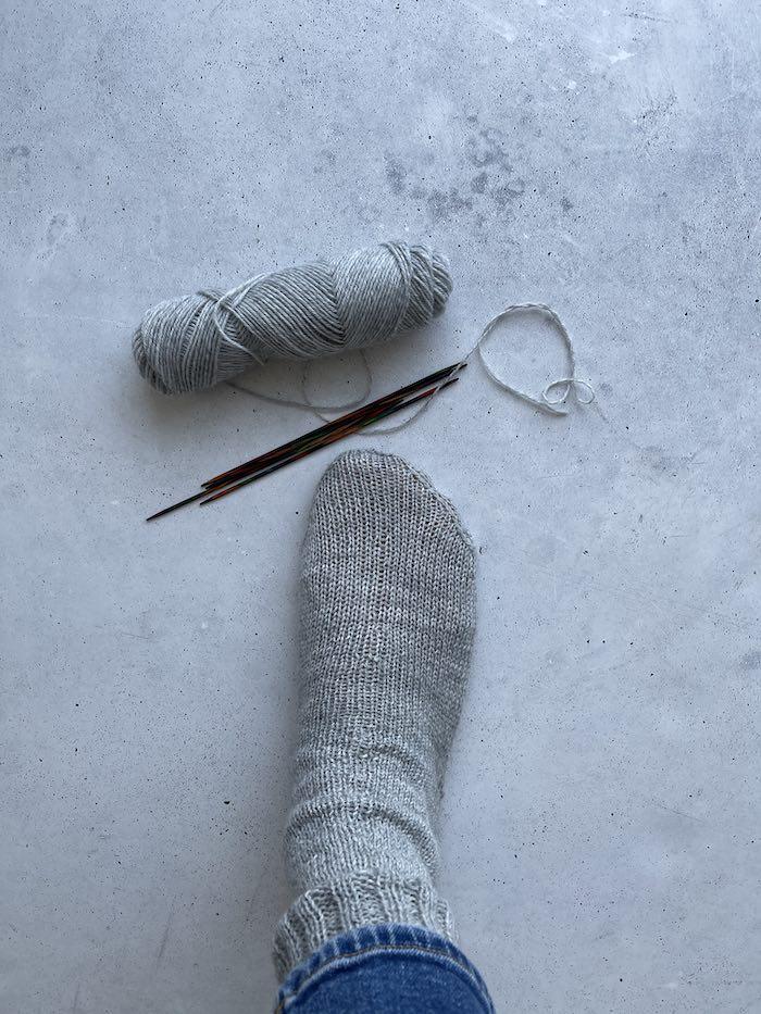 erste Socke ist fertig