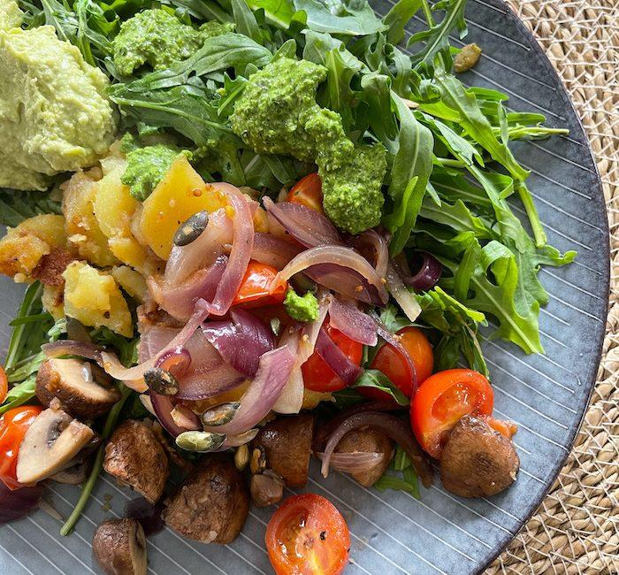 Bratkartoffel Salat – Resteessen so lecker
